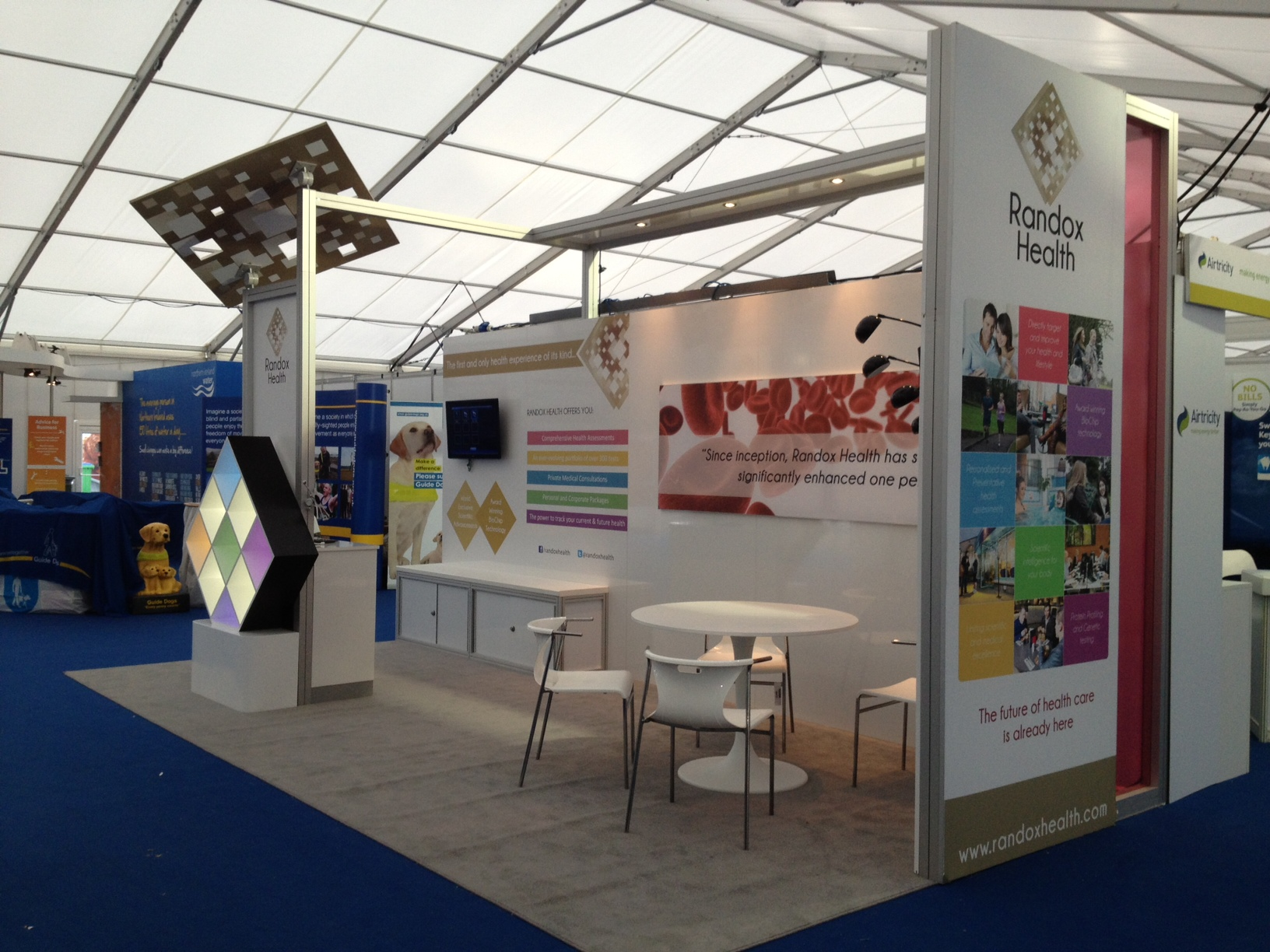 Exhibition Stand Medical : Designco build randox health exhibition stand at balmoral