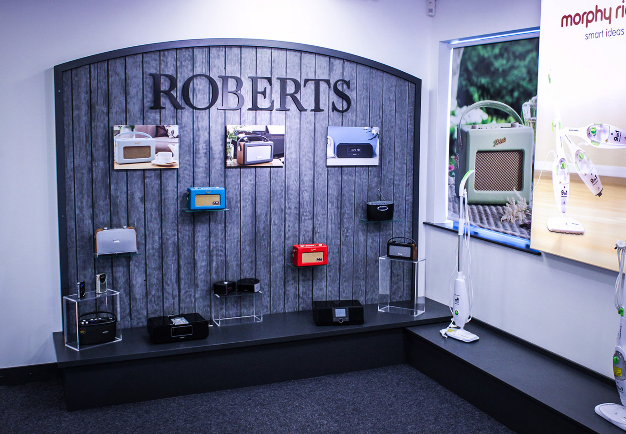 Rustic display for commercial showroom design and fit-out