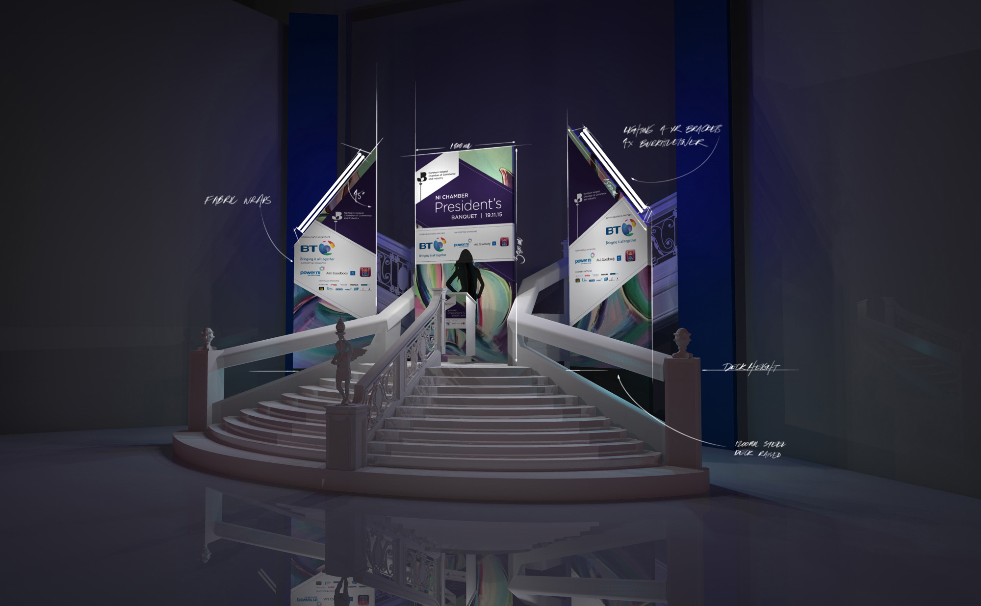 Conference backdrop design for the Famous Titanic Belfast