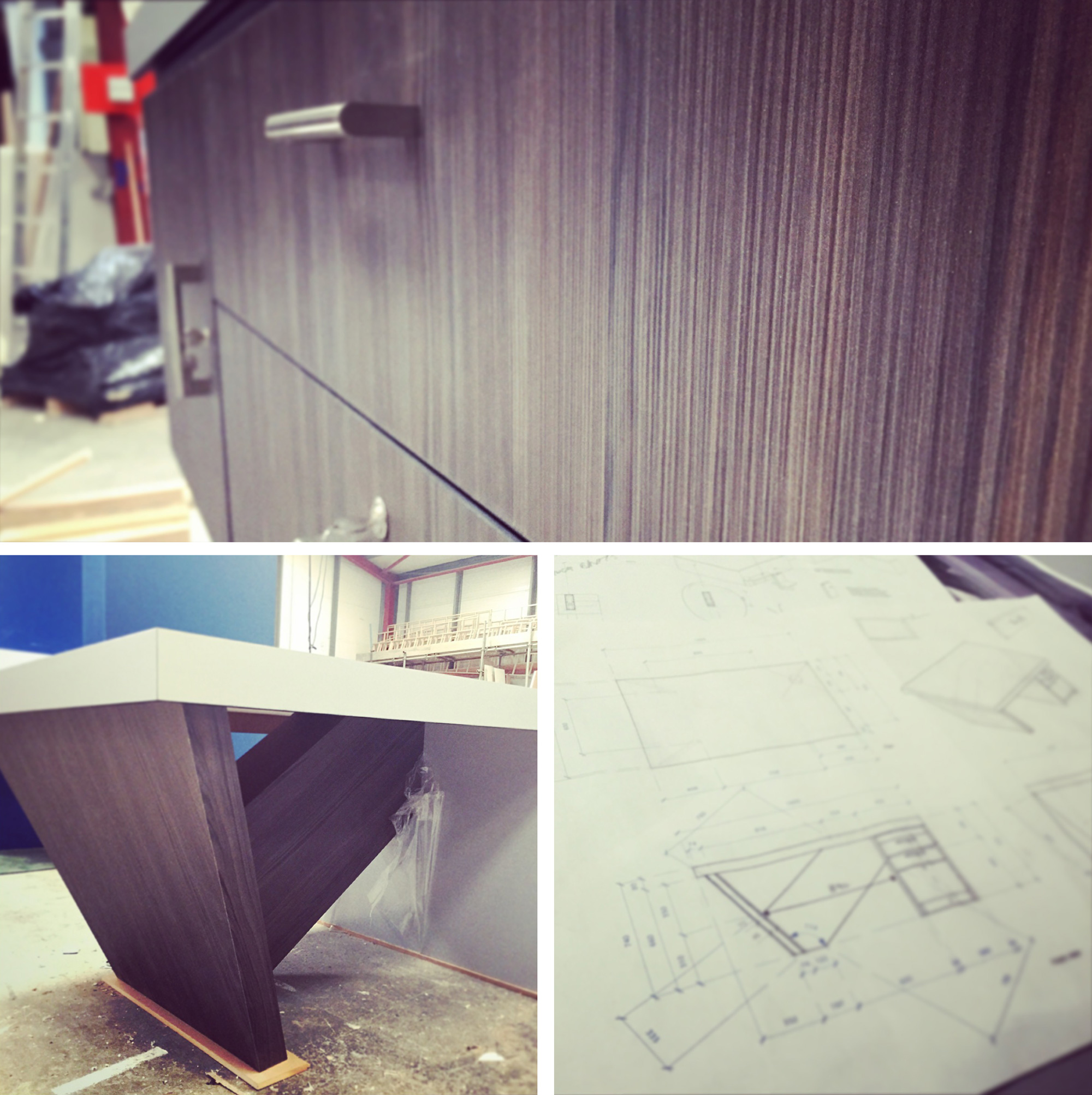 bespoke specialist joinery for angled executive desks