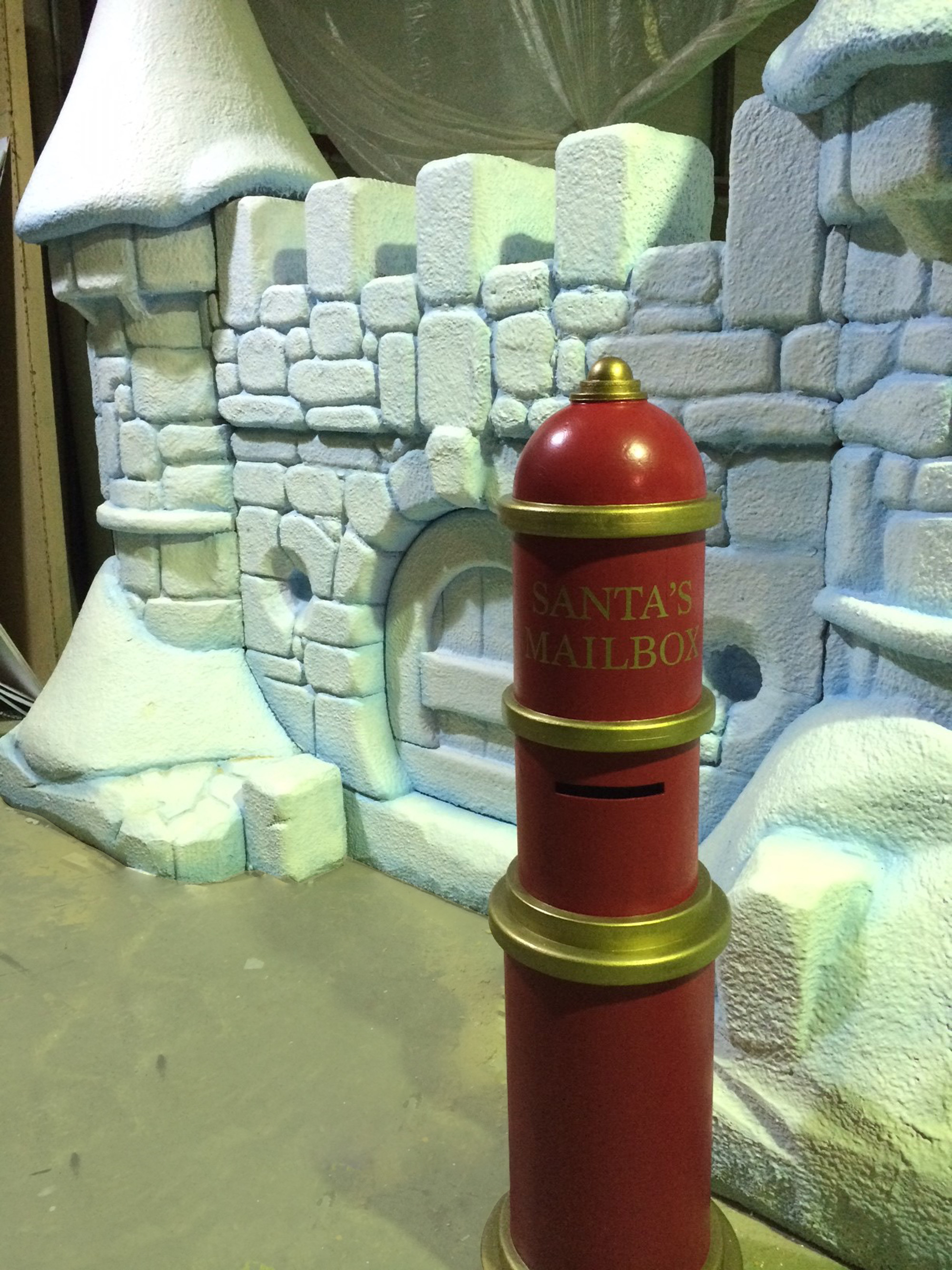 christmas post box and ice castle. 3D prop