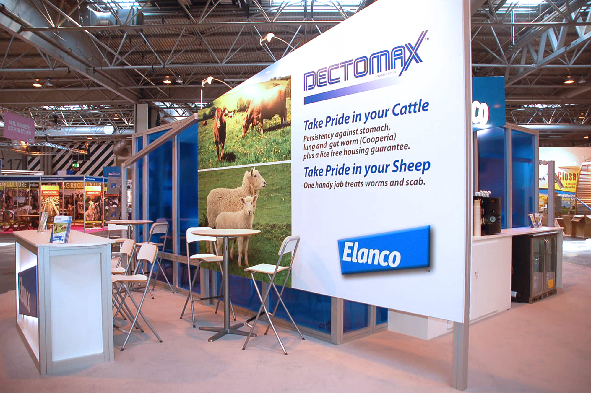 Exhibition feature wall graphics. Exhibition design and joinery