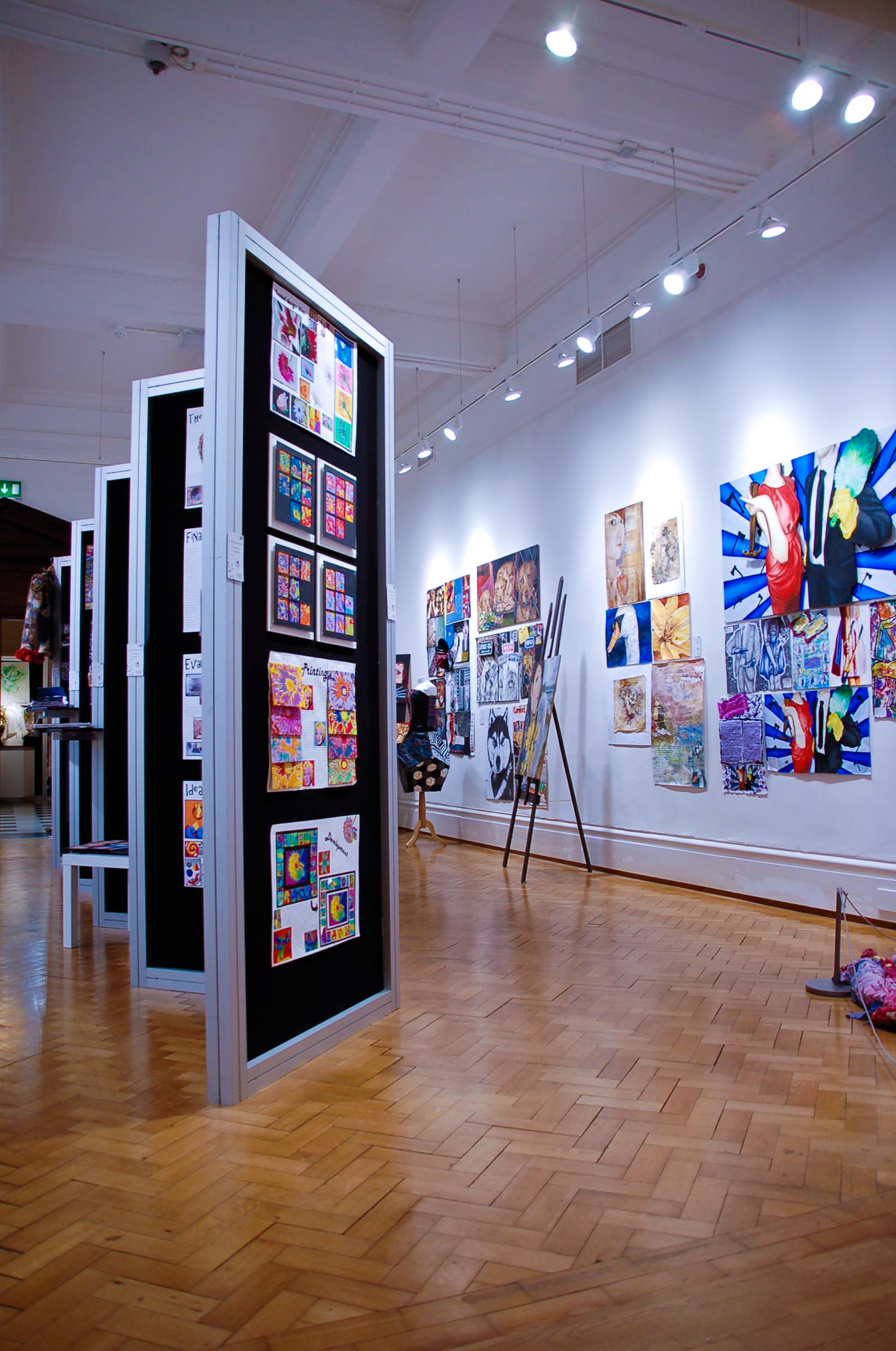 Gallery panels and art installation
