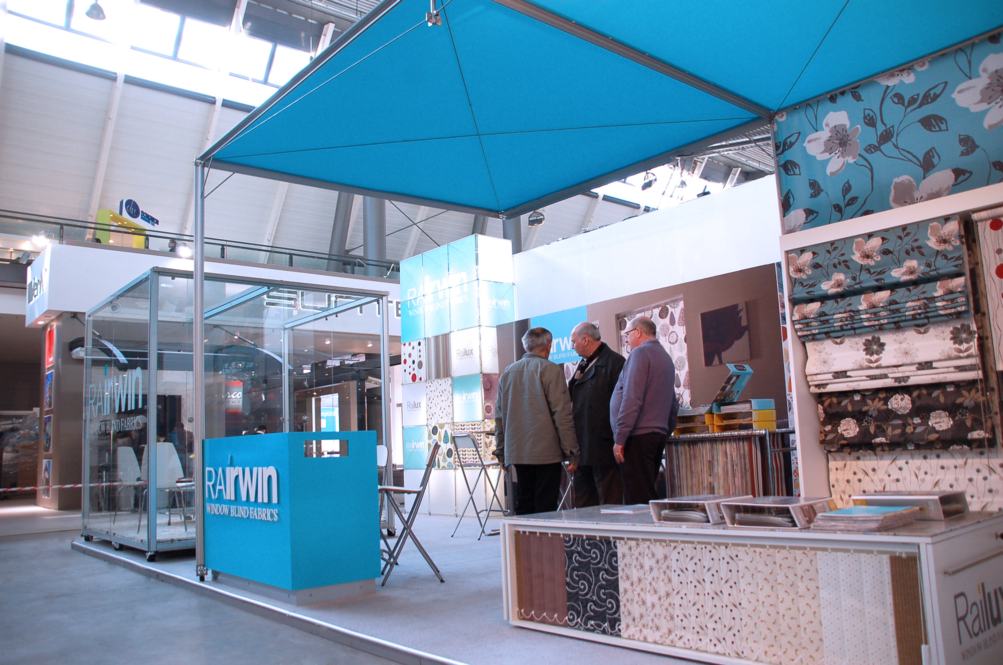 Clients take in beautiful exhibition stand design