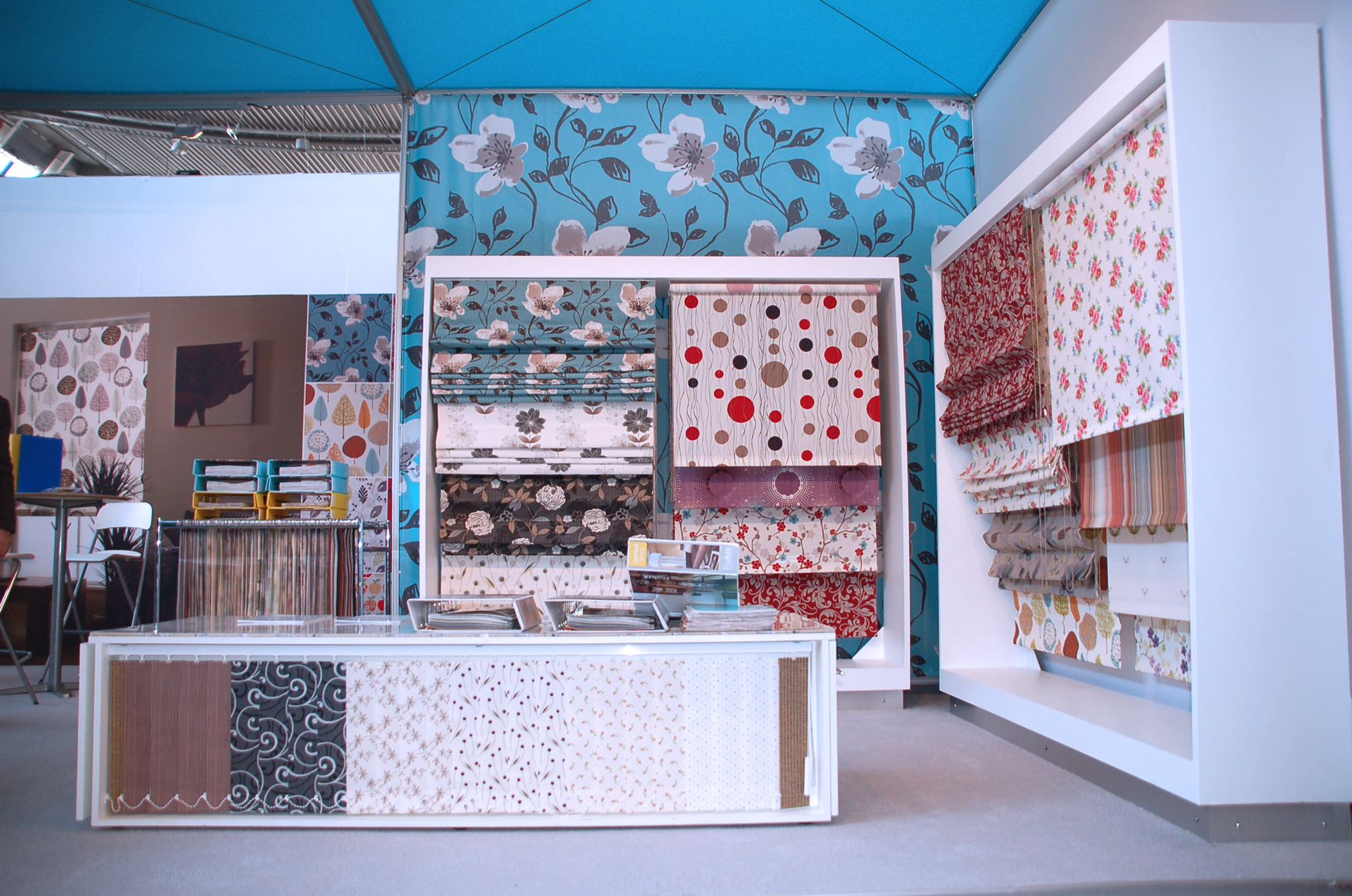 Exhibition Display of Roller Blinds