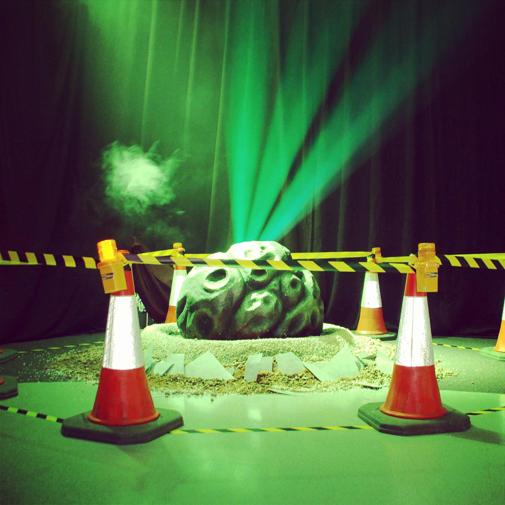 meteorite has landed 3D prop