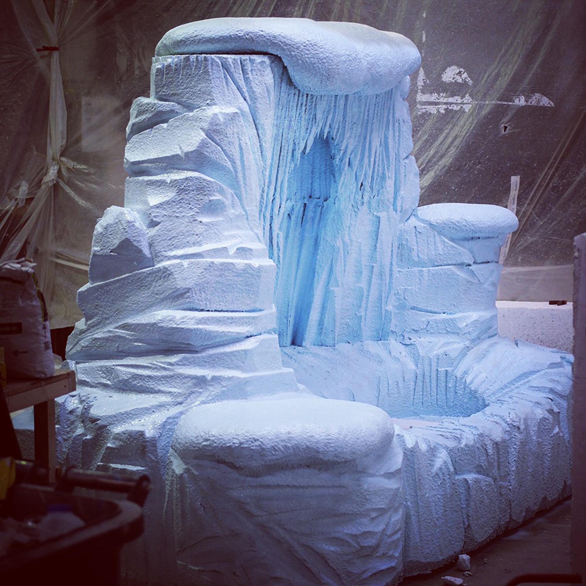 santa's grotto ice cave 3D prop