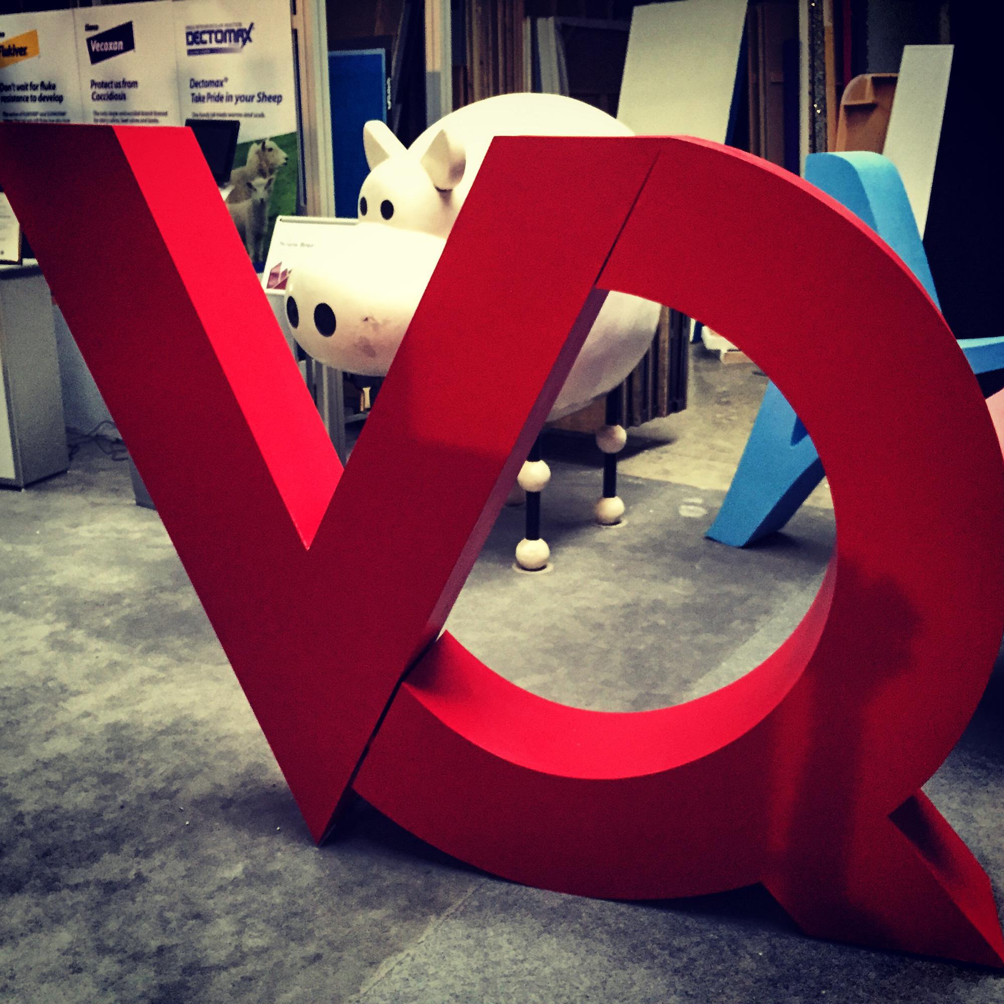 3D polystyrene letters