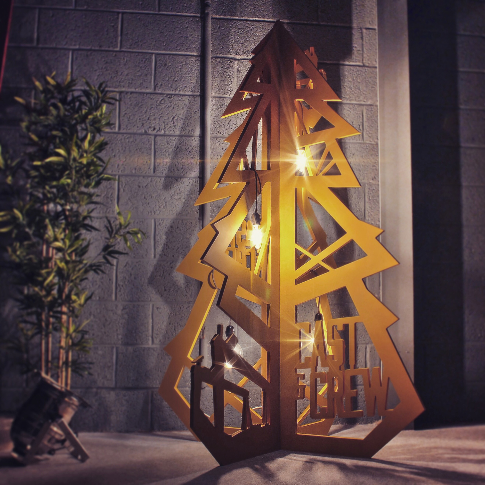 3D graphic christmas tree prop.