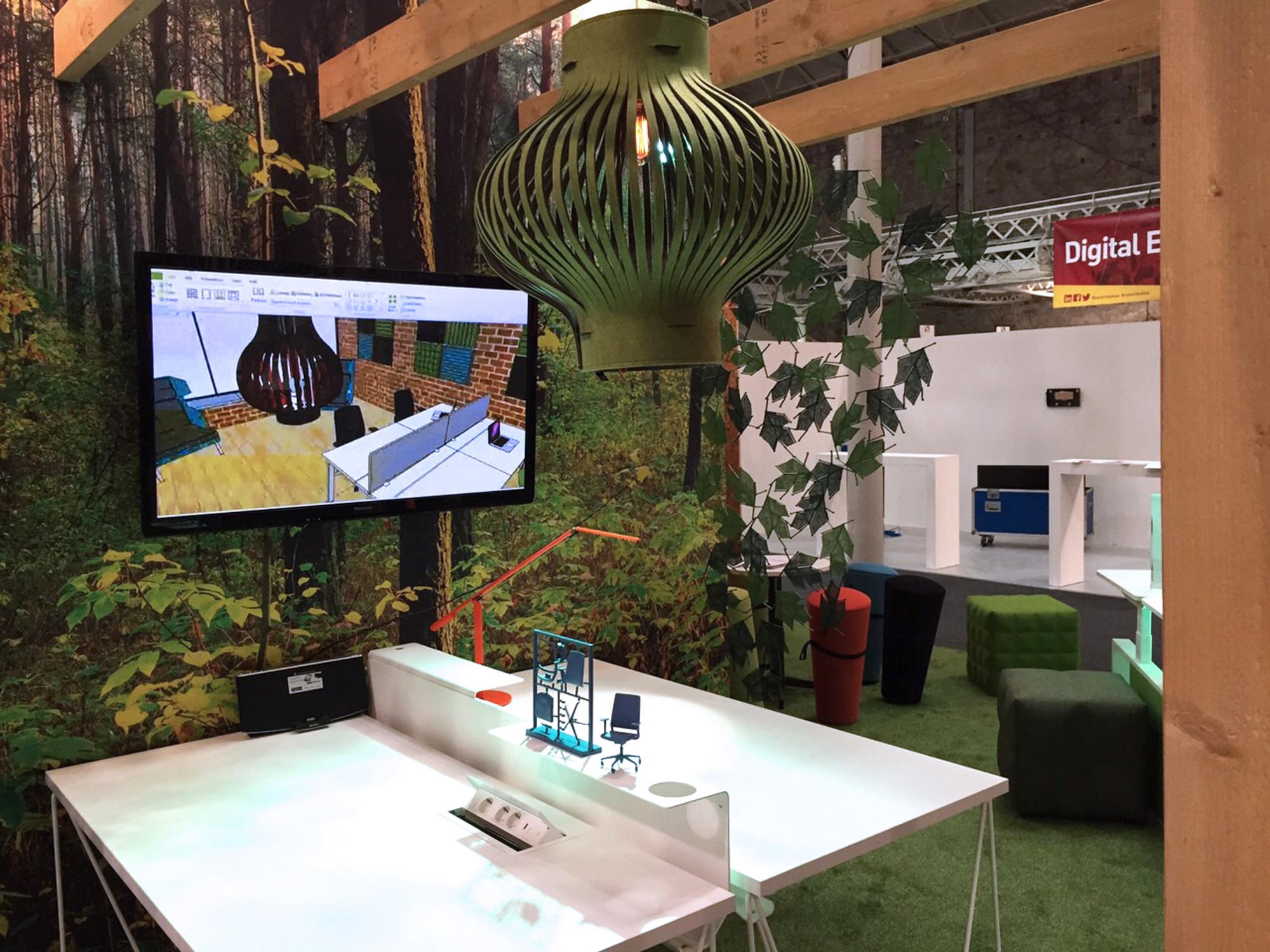 Exhibition design. High end interior details
