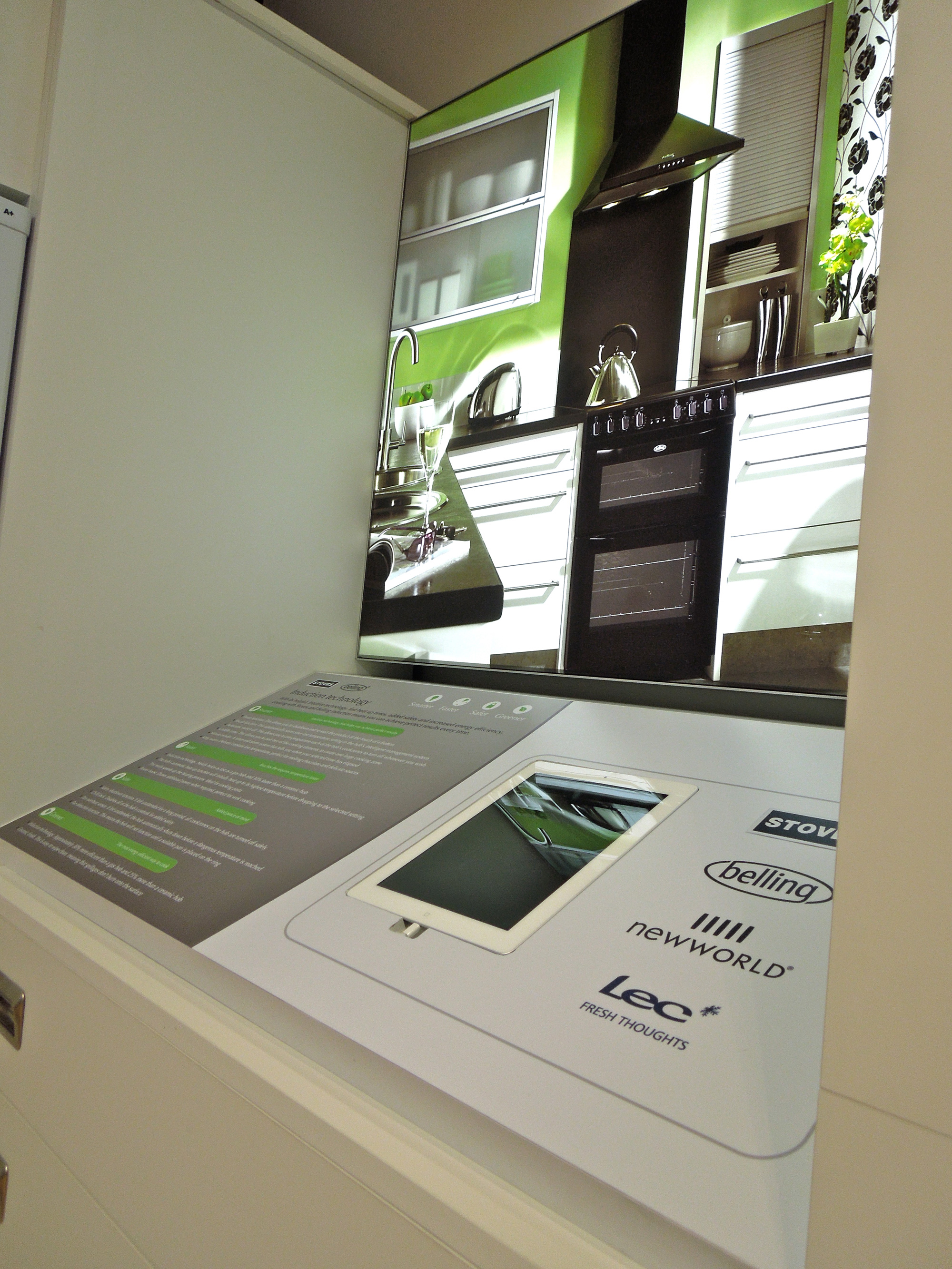 recessed i-pad display for commercial showroom design