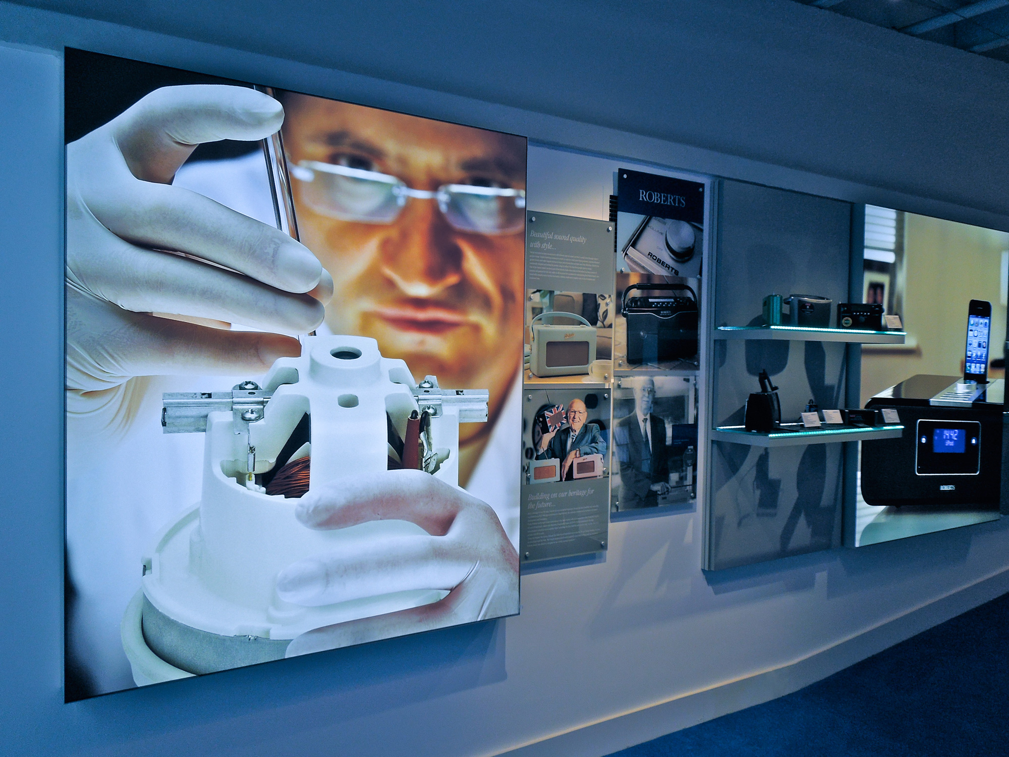 printed light boxes for showroom fit-out
