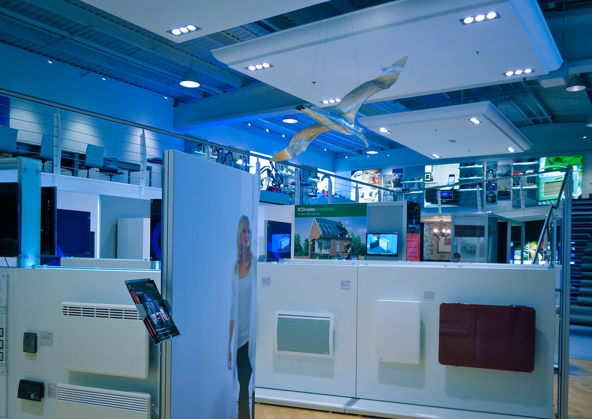 product gondolas showcasing display