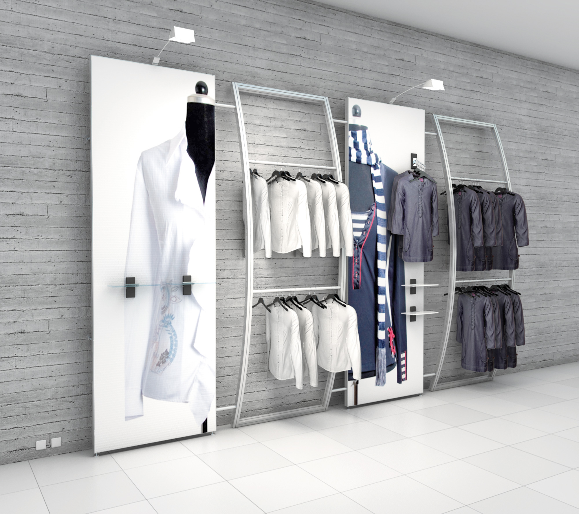 shop fit display solution from octanorm